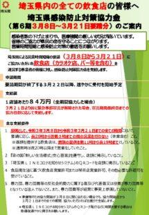 埼玉県感染防止対策協力金(第6期)についてのサムネイル